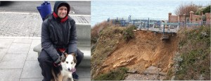 PAY--Man-and-his-dog-in-lucky-escape-after-cliff-CRUMBLES-beneath-them