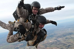 Spanish Army Starts Tandem Flights For Dogs And Owner